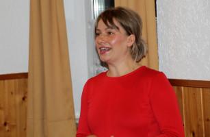 Bürgermeisterkandidatin Monika Waldeck bei der Vorstellung des Wahlprogramms
